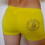 Shorty Homme Jaune