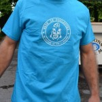 T-Shirt Homme bleu turquoise